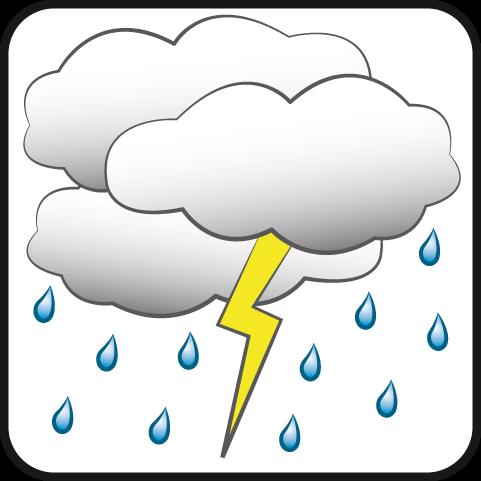 Nublado con aguaceros y tormenta eléctrica