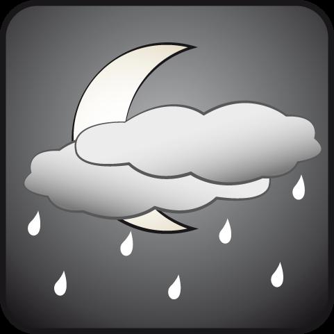 Parcialmente nublado con lluvias