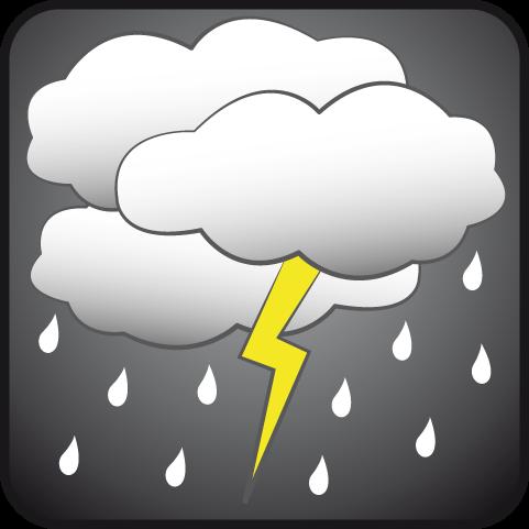 Nublado con aguaceros y tormentas